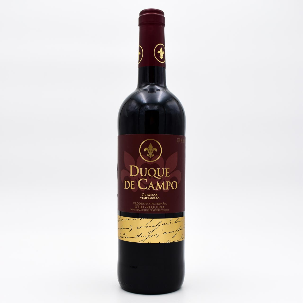 Вино, Vicente Gandia Duque de Campo Crianza Tempranillo Utiel-Requena DO, красное сухое, 0.75 л.
